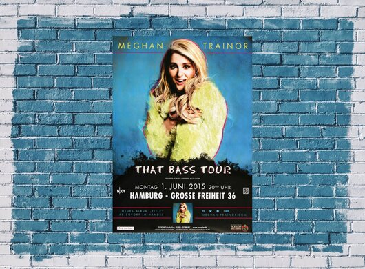 Meghan Trainor - That Bass , Hamburg 2015 - Konzertplakat