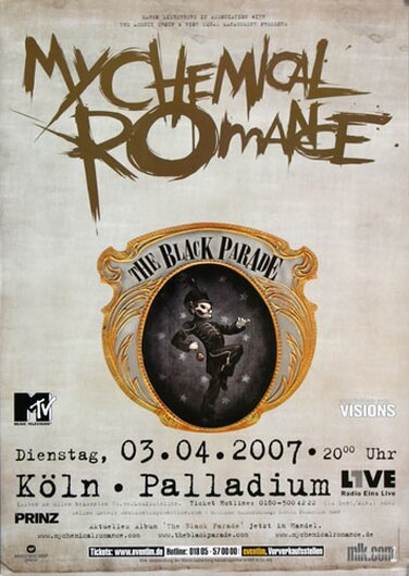 My Chemical Romance - Black Parade , Köln 2007 - Konzertplakat