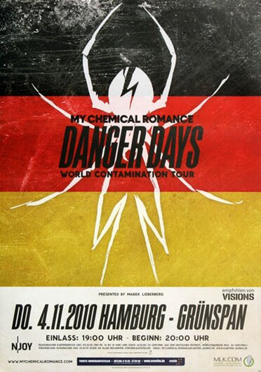 My Chemical Romance - Danger Days, Hamburg 2010 - Konzertplakat