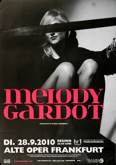 Melody Gardot - My Only Thrill , Frankfurt 2010 - Konzertplakat