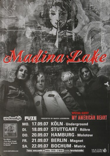 Madina Lake - Live To You, Tour 2007 - Konzertplakat