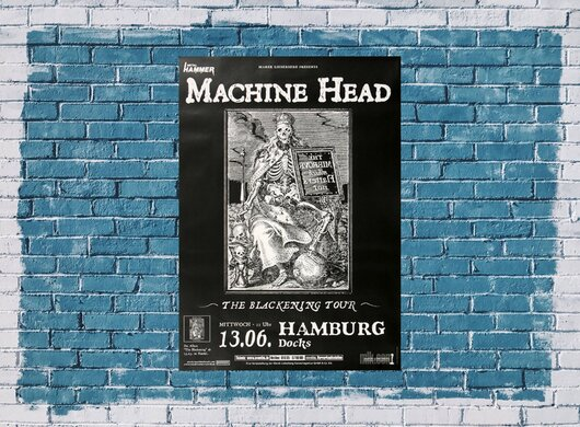 Machine Head - The Blackening, Hamburg 2010 - Konzertplakat
