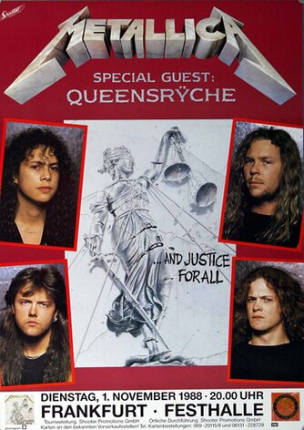 Metallica, And Justice For All, FRA, 1988