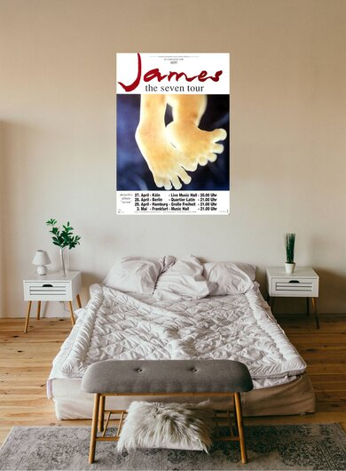 James - Seven, Tour 1992 - Konzertplakat