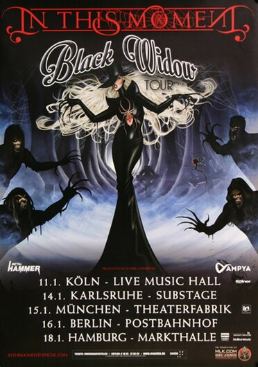 In This Moment - Big Bad Wolf, Tour 2016 - Konzertplakat