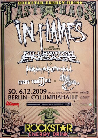 In Flames - Taste OF Chaos, Berlin 2009 - Konzertplakat