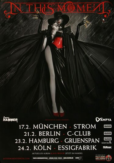 In This Moment - Black Widow, Tour 2015 - Konzertplakat