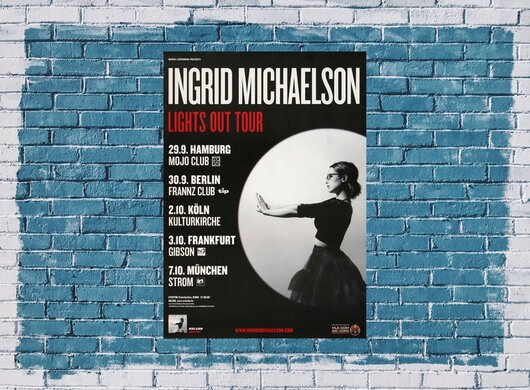 Ingrid Michaelson - Lights Out Tour, Tour 2014 - Konzertplakat