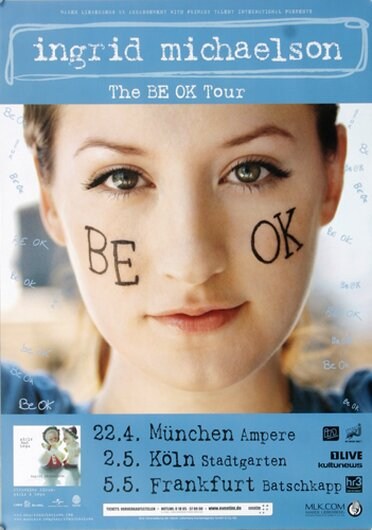 Ingrid Michaelson - The BE OK, Tour 2009 - Konzertplakat