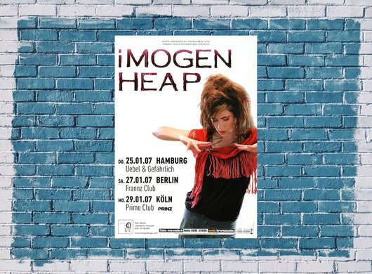 Imogen Heap - Speak For Yourself, Tour 2007 - Konzertplakat