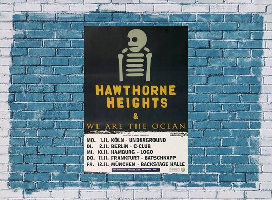 Hawthorne Heights - We Are The Ocean, Tour 2010 - Konzertplakat