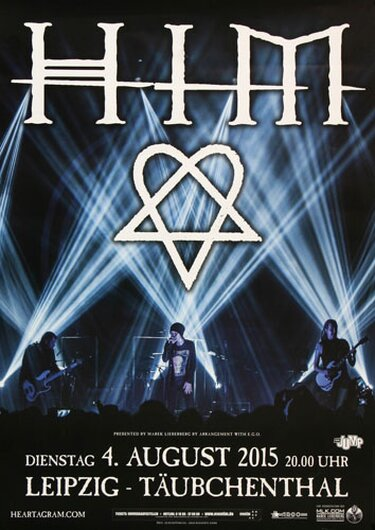 HIM - Hearts At War, Leipzig 2015 - Konzertplakat