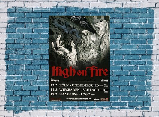 High On Fire - King Of Days, Tour 2013 - Konzertplakat