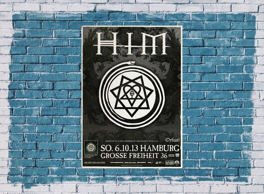HIM - Tears On Tape , Hamburg 2013 - Konzertplakat