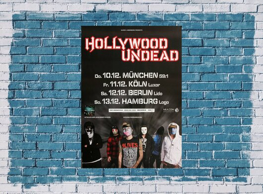 Hollywood Undead - Been To Hell, Tour 2009 - Konzertplakat