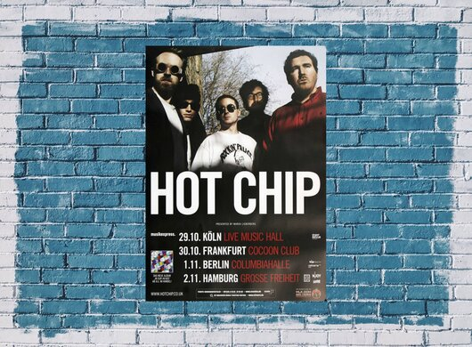 Hot Chip - In Our Heads, Tour 2012 - Konzertplakat