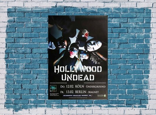 Hollywood Undead - Swan Songs, Köln & Berlin 2009 - Konzertplakat