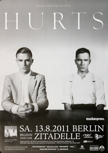 Hurts - Happiness , Berlin 2011 - Konzertplakat