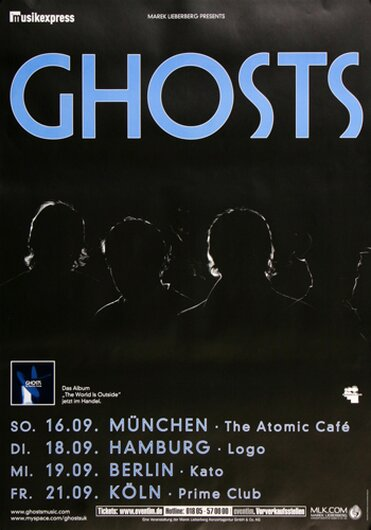 Ghosts - World Is Outside, Tour 2007 - Konzertplakat
