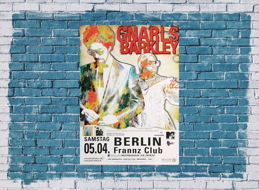 Gnarls Barkley - Danger Mouse, Berlin 2008 - Konzertplakat
