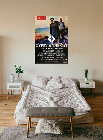 Gypsy & The Cat - Time To Wander, Tour 2012 - Konzertplakat
