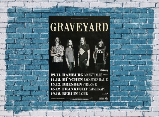 Graveyard - Lights Out, Tour 2012 - Konzertplakat
