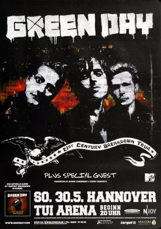 Green Day - Live In Hannover, Hannover 2010 - Konzertplakat
