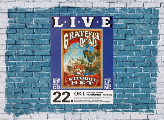 Grateful Dead - Without Net, Frankfurt 1990 - Konzertplakat