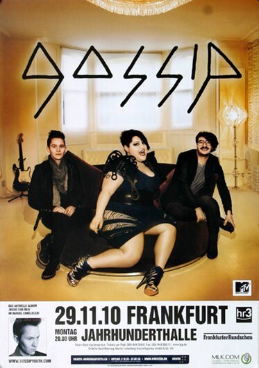 Gossip - Music For , Frankfurt 2010 - Konzertplakat