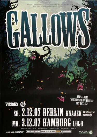 Gallows - Orchestra Of Wolves, Berlin & Hamburg 2007 - Konzertplakat