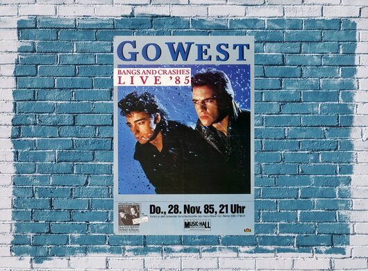 Go West - Bangs and Crashes, Frankfurt 1985 - Konzertplakat