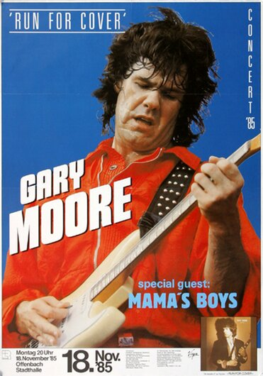 Gary Moore - Run For Cover, Offenbach 1985 - Konzertplakat