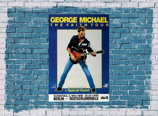 George Michael - The Faith, Berlin 1988 - Konzertplakat