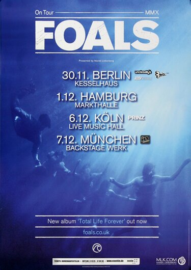 Foals - Blue Blood, Tour 2010 - Konzertplakat