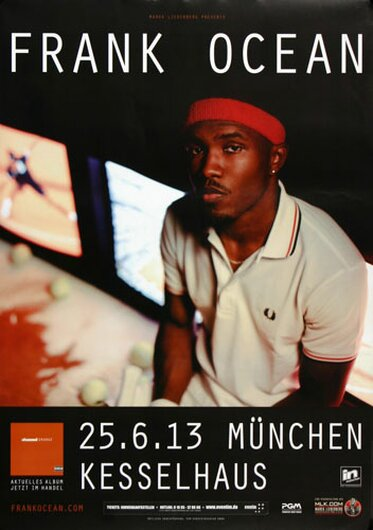 Frank Ocean - Channel Orange, München 2013 - Konzertplakat