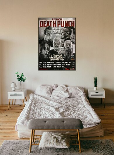 Five Finger Death Punch - Wrong Side , Hamburg 2014 - Konzertplakat