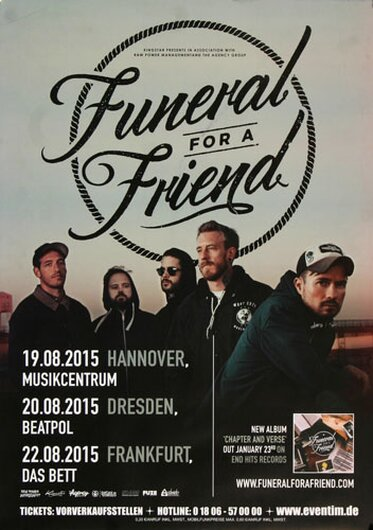 Funeral For A Friend - Chapter And Verse, Tour 2015 - Konzertplakat