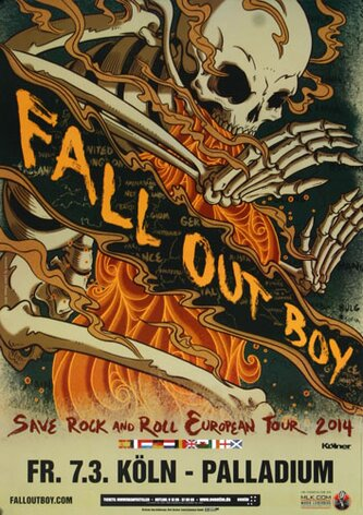 Fall Out Boy - Save Rock, Köln 2014 - Konzertplakat