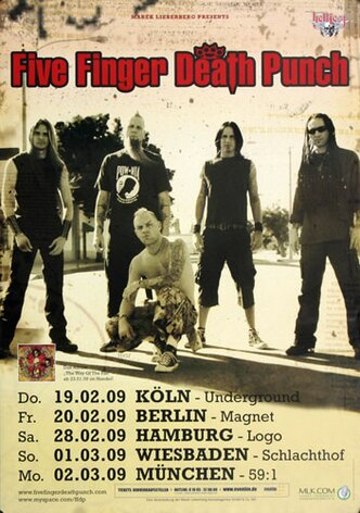 Five Finger Death Punch - War Is The Answer, Tour 2009 -...
