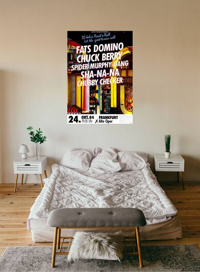 Fats Domino - What A Party, Tour 1984 - Konzertplakat