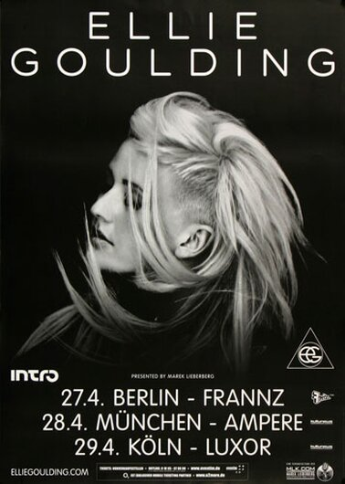 Ellie Goulding - Halycon Days, Tour 2013 - Konzertplakat