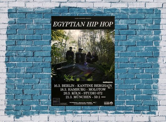 Egyptian Hip Hop - Yoro Diallo, Tour 2013 - Konzertplakat