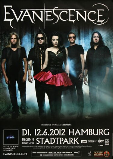 Evanescence - Made Of Stone , Hamburg 2012 - Konzertplakat