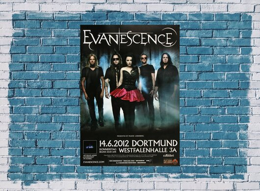 Evanescence - Made Of Stone , Dortmund 2012 - Konzertplakat