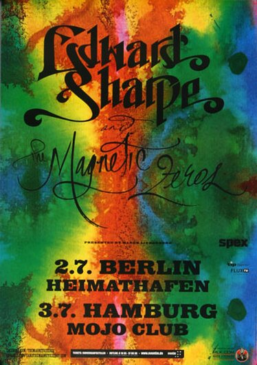 Edward Sharpe & Magnetic Zeros - Please, Berlin & Hamburg 2013 - Konzertplakat