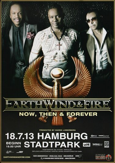 Earth, Wind & Fire - Now and Then , Hamburg 2013 - Konzertplakat