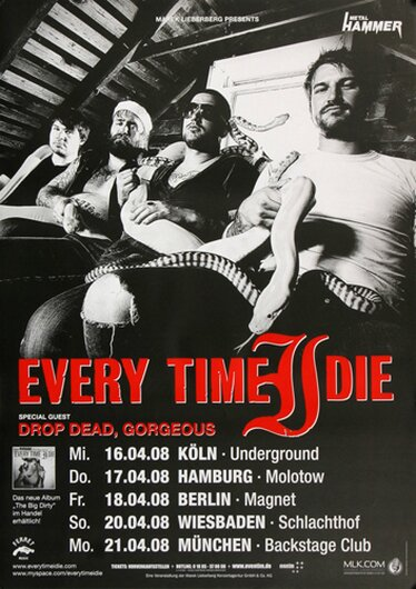 Every Time I Die - New Junk Aesthetic, Tour 2008 - Konzertplakat
