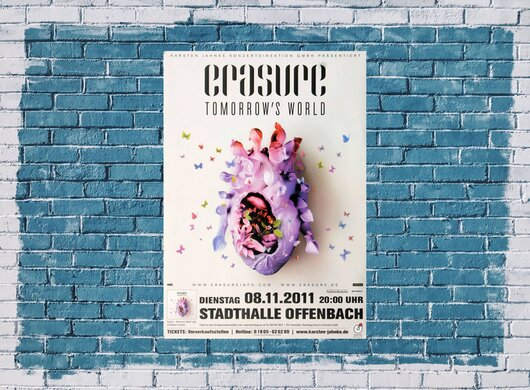 Erasure - Tomorrows World, Offenbach 2011 - Konzertplakat