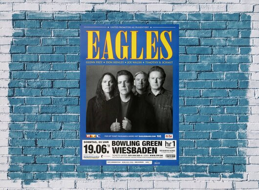 The Eagles - Bowling Green, wiesbaden 2011 - Konzertplakat