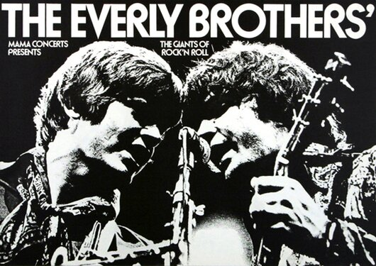 The Everly Brothers - Giants Of Rockn Roll,  1972 - Konzertplakat